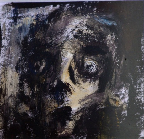 Acrylic on paper, 5 x 5 cm