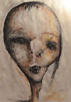 III Encuentro Alicante, Acrylic on paper, 100 x 70 cm
