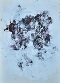 Stvaranje, kombinovana tehnika na papiru, 2017, 33 x 23cm
